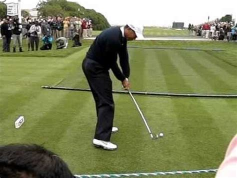 tiger woods iron swing tiger woods hitting 5 iron to 17th at pebble beach us open