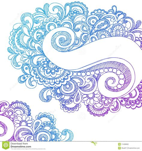 paisley doodle vector free abstract paisley sketchy notebook doodles stock vector