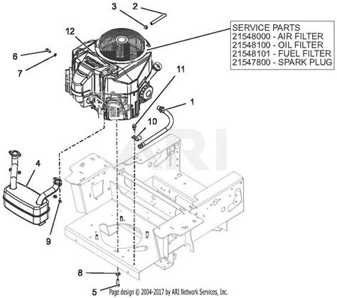 gravely   pro turn  parts diagram  engine kawasaki fs