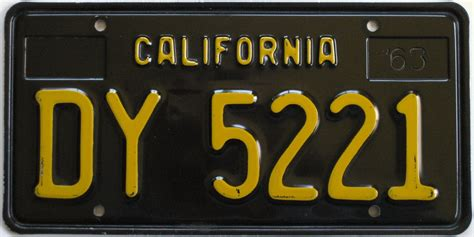 California License Plate Lookup 1963 Black California Trailer Plate