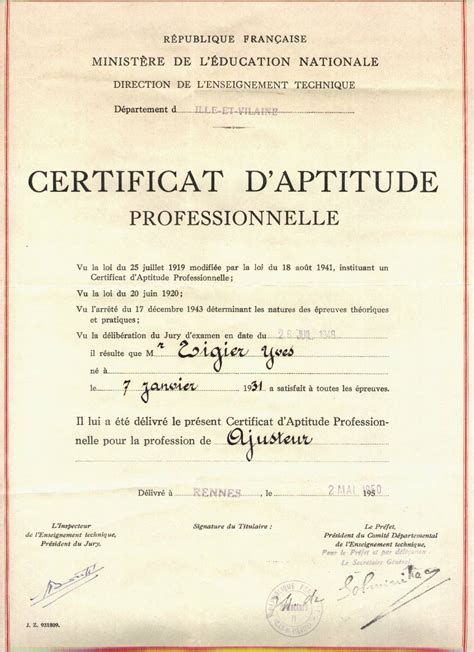 dispense universitarie gratis certificat d aptitude professionnelle