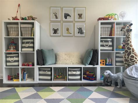 ikea boys room playroom toddler room baby animals blue gray white gold