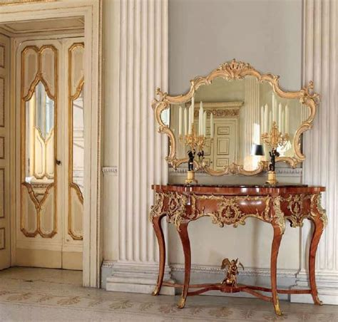 Kitchen Design Virtual Classic Console In Marble Bronze Decorations For
