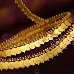 h4496 antique kasulaperu coin laxmi design hip belt simple