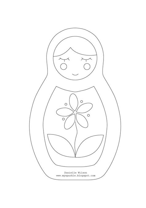 matryoshka doll pattern dolls dolls and more pinterest