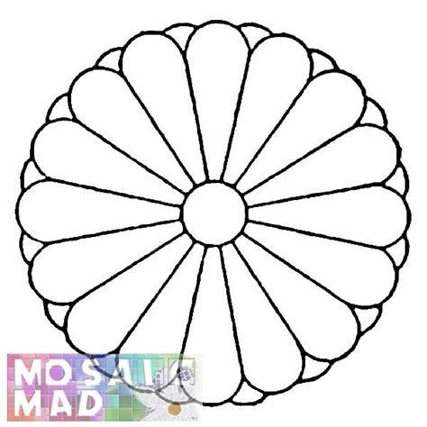 free mosaic pattern ideas mosaic patterns printable flower chrysanthemum 1
