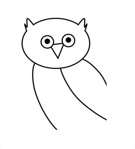 Owl Image Outline by Owl Template Animal Templates Free Premium Templates