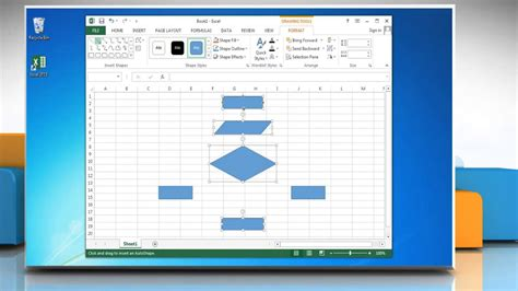 make flowchart in excel how to make a flow chart in excel 2013