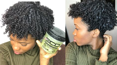natural hairstyles eco gel new eco styler black castor flaxseed gel wash and go on