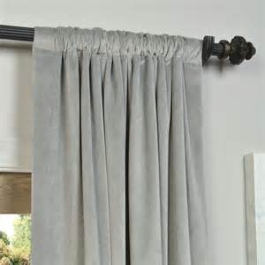 Blackout Velvet Curtains Exclusive Fabrics And Furnishings Silver Grey Velvet Blackout Curtain Panel Panels Drapes