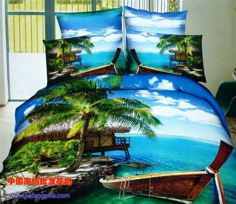 Palm Tree Bed Set Aliexpress Buy 3d Palm Tree Bedding Comforter Sets Size Bedspread Duvet Cover