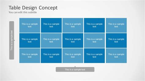 Table Design Concept For Powerpoint Slidemodel Powerpoint Chart Design