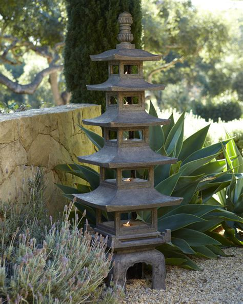 Japanese Outdoor Garden Decor Quot Pagoda Quot Outdoor Sculpture Asian Garden Statues And Yard By Horchow