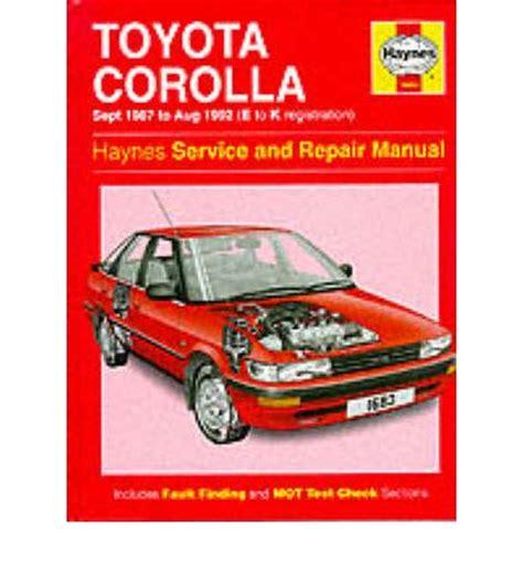 Jones Toyota Service Pdf Toyota Corolla 1987 92 Service And Repair Manual By