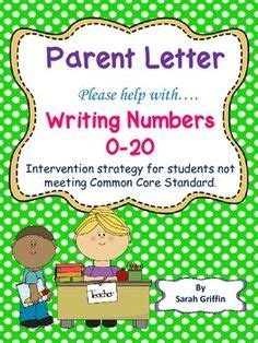 Parent Letter Explaining Common 1000 Images About Numbers 0 20 On Writing Numbers Numbers And Assessment