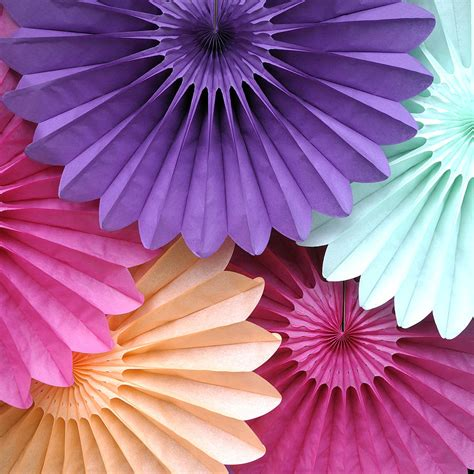 How To Make Tissue Paper Fans - tissue paper fan by blossom notonthehighstreet