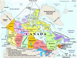 map of canada with labels ridgegeography unit 1 physical connections