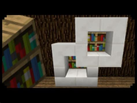 minecraft how to make a modern bookshelf