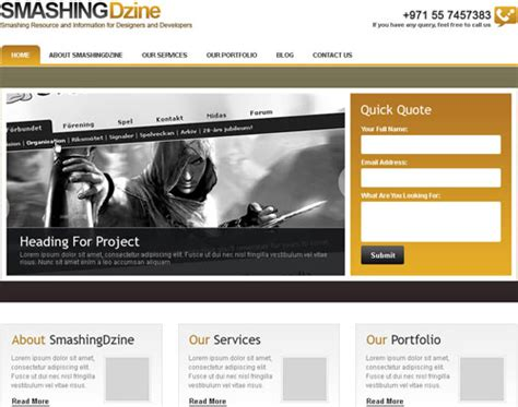 corporate web layout design photoshop web design layout tutorials from 2010 noupe