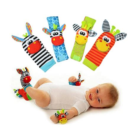 Mainan Bayi Baby Rattle 4 Pcs by 4 Pcs Lot 4 Pcs 2 Pcs Waist 2 Pcs Socks Baby Rattle