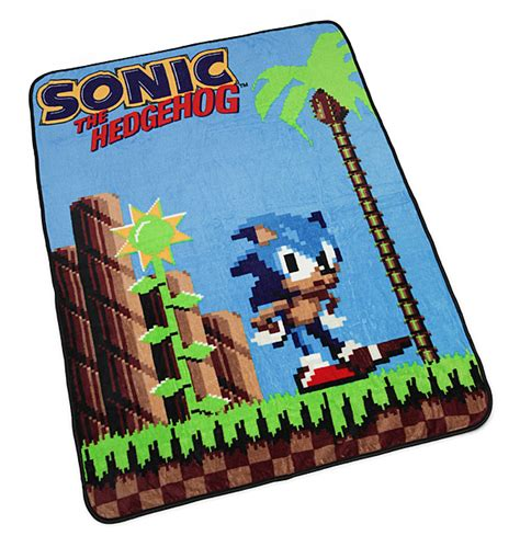 sonic the hedgehog rug sonic the hedgehog fleece blanket thinkgeek