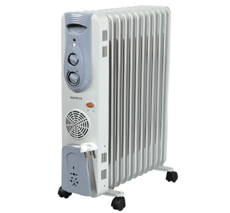room heater radiator havells room heater 11 fin with fan filled radiator