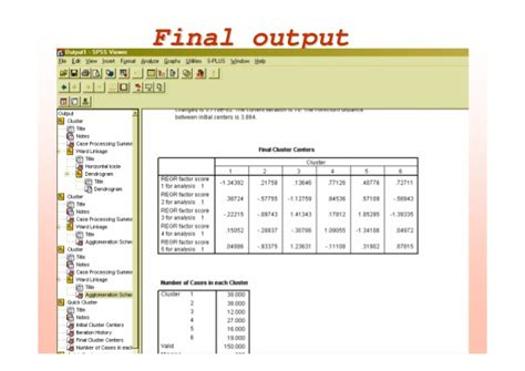 spss tutorial analysis spss tutorial cluster analysis