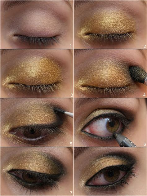 Eyeshadow Gold Tutorial apply eyeshadow like a pro images