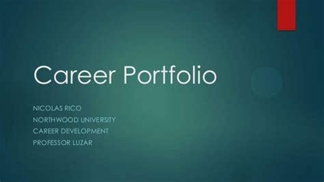 Career Portfolio For Career Development Career Portfolio Template Powerpoint