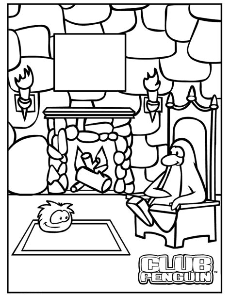Coloring 15 Lg Gif Club Penguin Coloring Pages