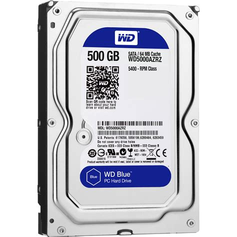 Harddisk 3 5 Wdc Blue 500gb wd 500gb blue 3 5 quot drive wd5000azrz b h photo