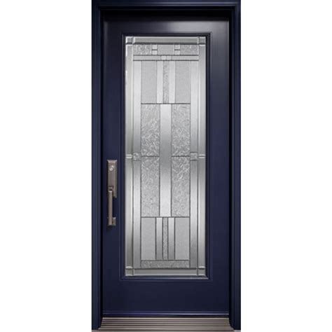 Exterior Door Glass Insert Exterior Door With Cachet Glass Insert Novatech Classic Collection