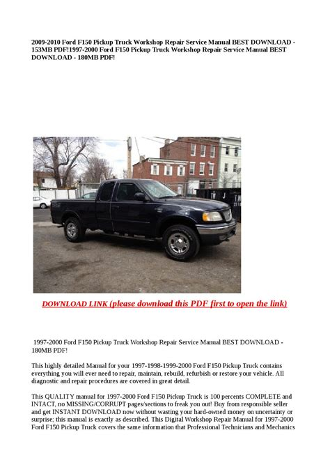 download car manuals 1997 ford f150 user handbook 1997 2000 ford f150 pickup truck workshop repair service manual best download 180mb pdf by