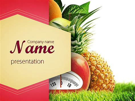 Diet Food Powerpoint Template Backgrounds 11380 Poweredtemplate Com Free Powerpoint Templates Food And Beverage