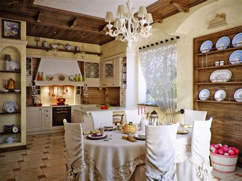 dining room country home interiors style ideas for