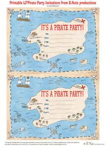 bnute productions free printable pirate invitations