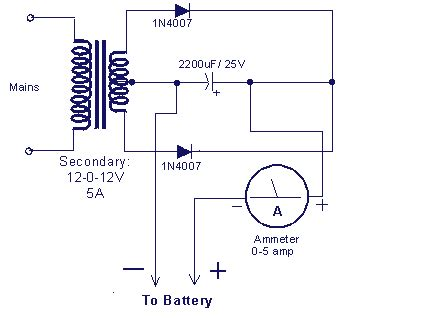 Adaptor 12 Volt 1 Ere battery charger circuit make a 12v battery charger at home