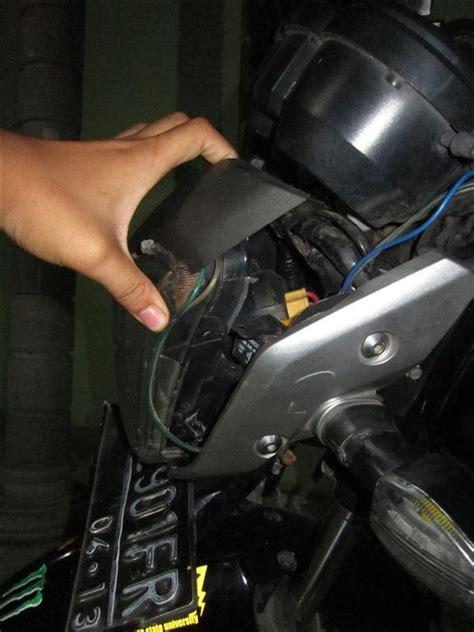 Lu Sein Kanan Depan Honda Megapro kondisi megison pasca kecelakaan kemarin pertamax7