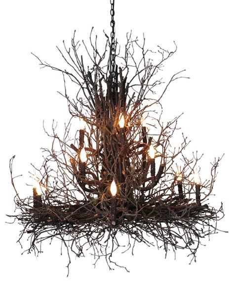 branch chandelier briarwood branch chandelier rustic chandeliers by