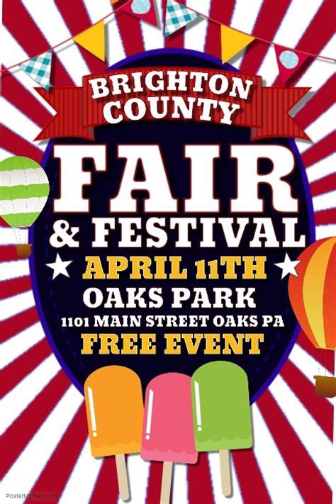 fair flyer template free fair template postermywall