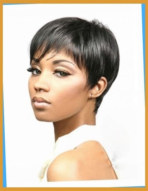 hairstyle with wigs with bangs for african women synthetic short wig with bangs for black women pixie cut