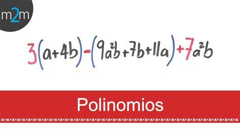 suma y resta de polinomios multiplicacin de polinomios y divisin suma y resta de polinomios youtube