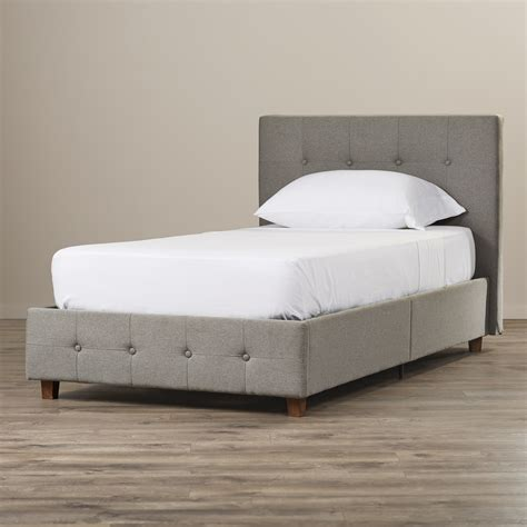 Platform Bed Upholstered Headboard by Andover Mills Amherst Upholstered Platform Bed Reviews