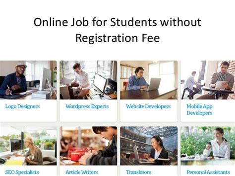 Online Work From Home Without Registration Fee - work online without fees jobs online