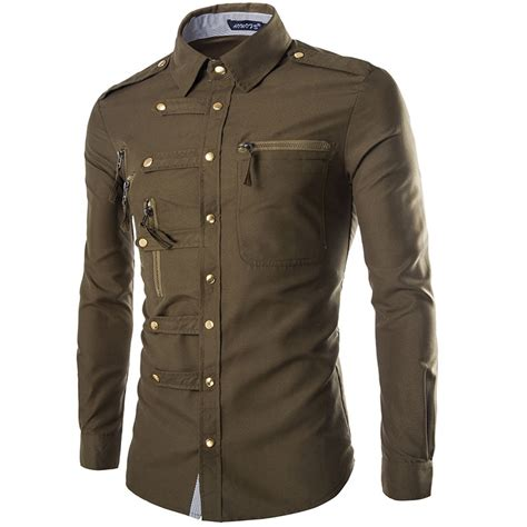 military style men s dress shirts 99390