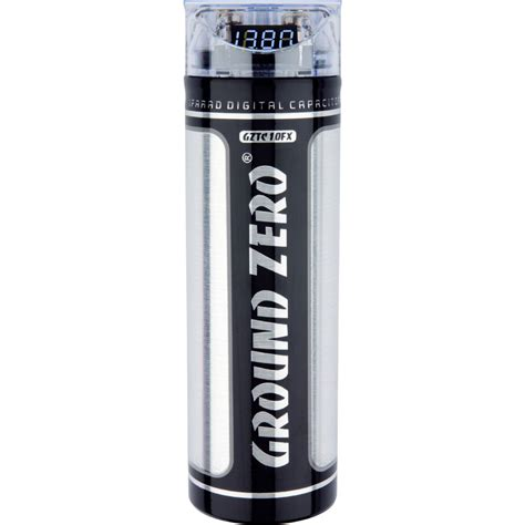 audio system capacitor ground zero titanium gztc 1 0fx capacitor 1 farad cap for car audio lifiers ebay