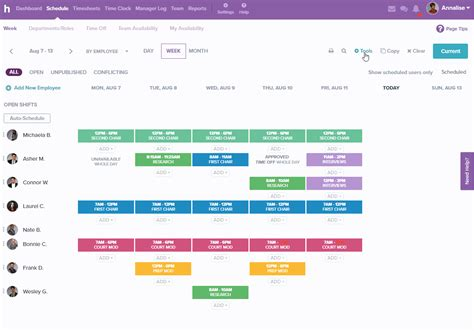 employee schedule templates homebase