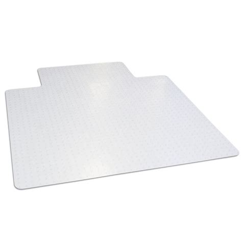 office chair mat dimex 45 in x 53 in clear office chair mat with lip for low and medium pile carpet bpa and