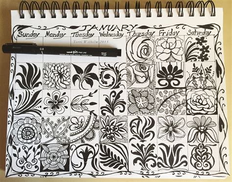 doodle january inspiration s notebook page 2
