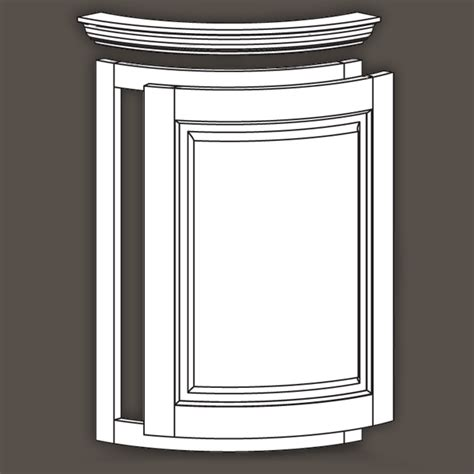 Curved And Radius Cabinet Doors Moldings Face Frame And Radius Cabinet Doors